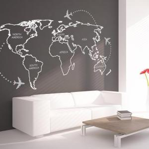 World Map Outlines with Continents ..