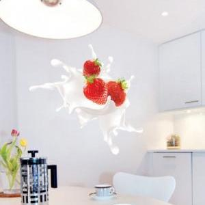 Strawberry Splash Sticker for house..