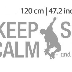 Wall Decal Quotes - Keep Calm and S..