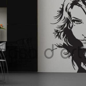 Girl Face Vinyl Decal Profile Stick..