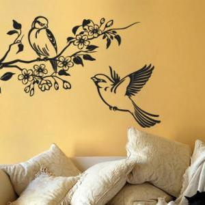 Floral with Birds Decal Tree Sticke..