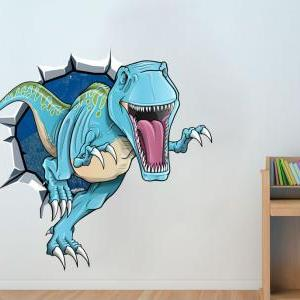 Dinosaur T-Rex Breaking Wall Effect..