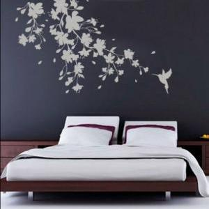 Sakura Floral Decal Oriental Sticke..