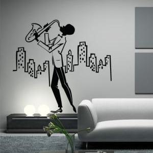Jazz in the City Vintage Decal for ..