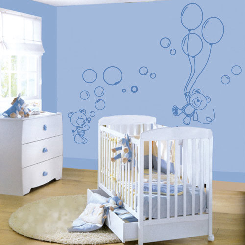Nursery Wall decals - Little bears and balloons for housewares