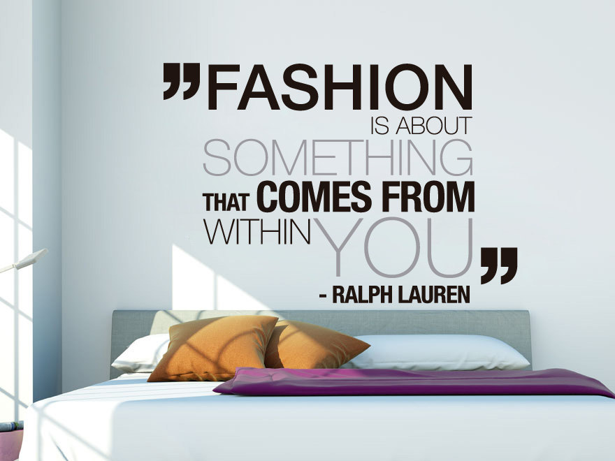 Wall Decal Quotes   Ralph Lauren Fashion Art Quote Sticker Home Decor For  Housewares Vinyl Wall