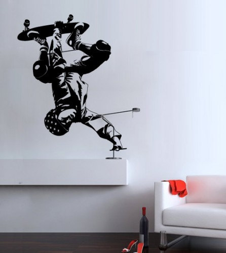 Skateboard Wall Sports Decal for Modern Living Room Decoration Sticker Extreme Sportsman