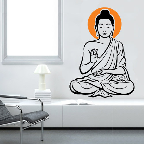 Vinyl Wall Decal Buddha Zen Oriental Sticker Part 29