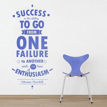 Wall Decal Quotes -  Motivational Quote Success Decor Typography Inspirational Famous Quote Wall Decoration Art