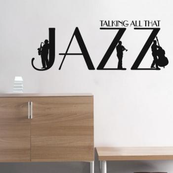 Wall Decal Quotes -  Jazz Art Quote Decal Talking About Jazz Music Text Sticker for Housewares