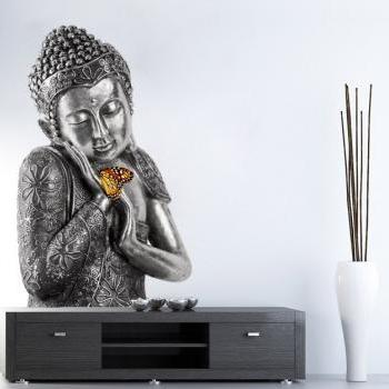Buddha Wall Sticker Asian Home Decor Yoga Meditation Decal Oriental Sticker
