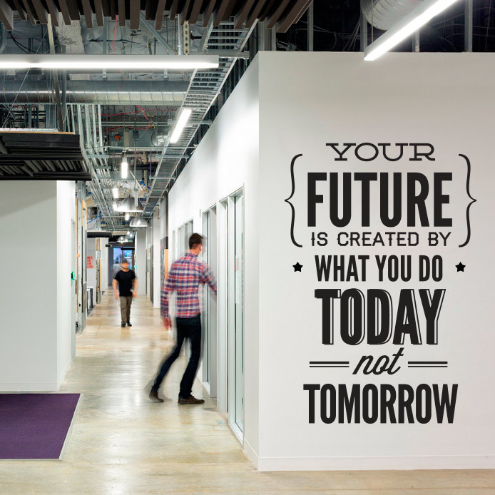 wall decal quotes - vinyl quote do it today not tomorrow wall office